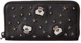 Christian Louboutin Patent Zip-Around Wallet