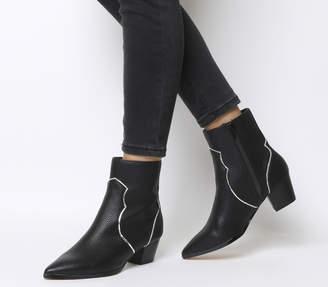 Office Arlo Western Boots Black