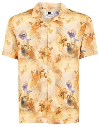 Topman Mens Multi Renaissance Style Short Sleeve Shirt