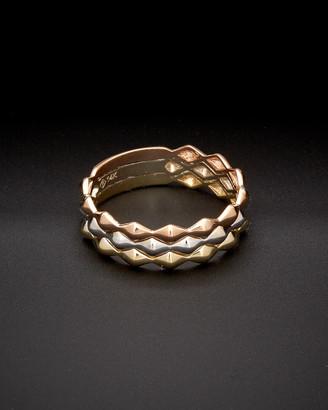 Italian Gold 14K Tri-Tone Ring