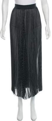 Joseph Sheer Pleated Midi Skirt