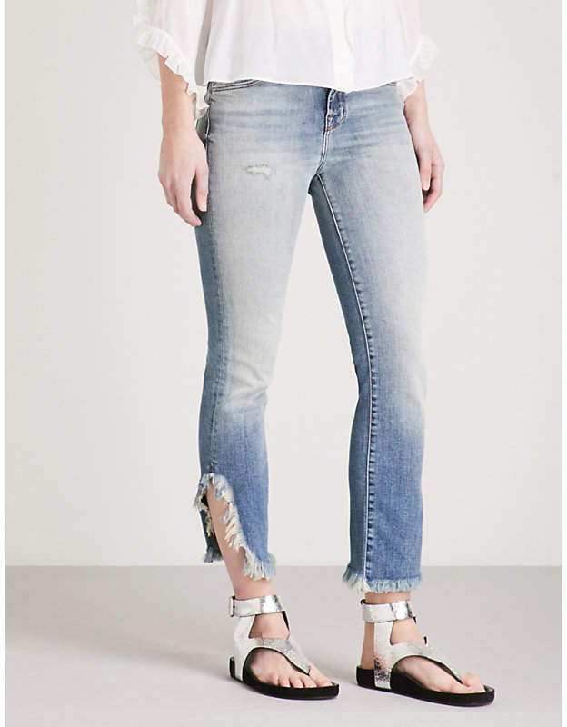 Ruby straight cropped high-rise jeans