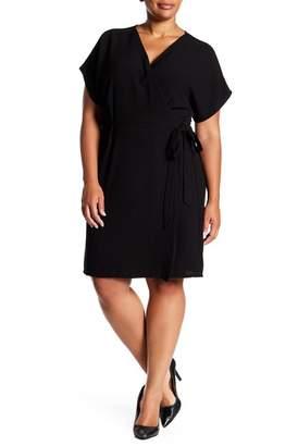 Bobeau Crepe Wrap Dress (Plus Size)