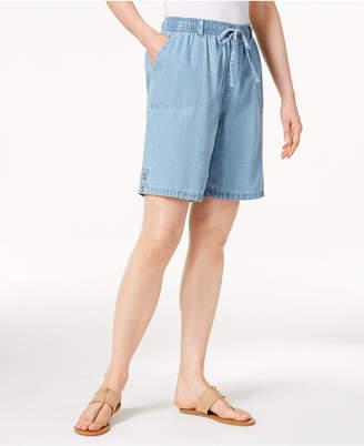 Karen Scott Pull-On Cotton Shorts