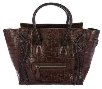 Celine Crocodile Micro Luggage Tote