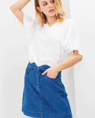 Vero Moda Lisa Scallop Short A-Skirt