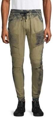 Pierre Balmain Moto Cotton Sweatpants