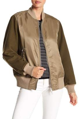 Rag & Bone Elle Wool & Satin Bomber Jacket