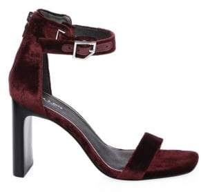 Rag & Bone Ellis Velvet Ankle-Strap Sandals