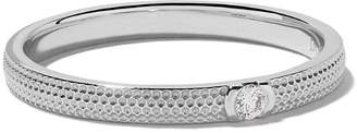 De Beers 18kt white gold Azulea diamond band