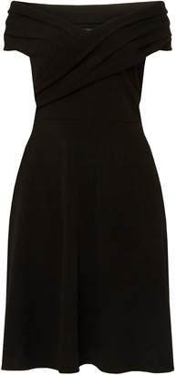 Dorothy Perkins Womens **Dp Curve Black Bardot Fit And Flare Dress
