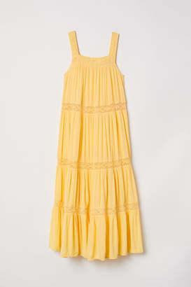 H&M Crinkled Maxi Dress - Yellow