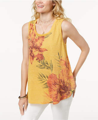 Style&Co. Style & Co Floral-Print Swing Tank Top, Created for Macy's