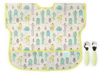 Bumkins Junior Bib & Spoon 2-Piece Set - Cacti