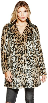 GUESS Nevra Faux-Fur Coat $248 thestylecure.com