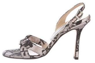 Jimmy Choo Lace Slingback Sandals