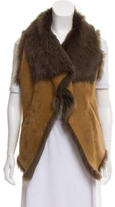 Calypso Suede and Fur Vest