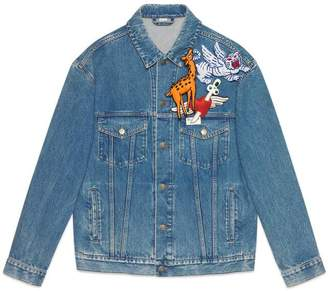 Gucci Denim jacket with brooches