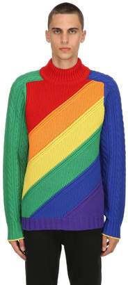 Burberry Rainbow Wool & Cashmere Knit Sweater