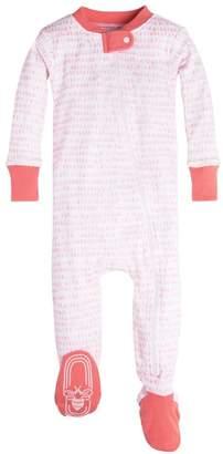 Burt's Bees Dew Drop Organic Baby Zip Up Footed Pajamas