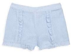 Design History Little Girl's & Girl's Gingham Seersucker Shorts