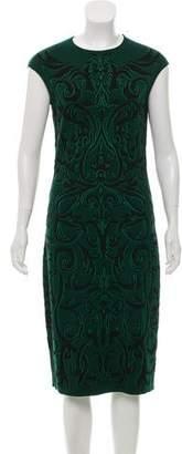 Alexander McQueen Wool Intarsia Dress