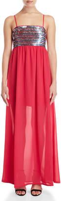 Gaudi' Gaudi Sequin Bodice Maxi Dress