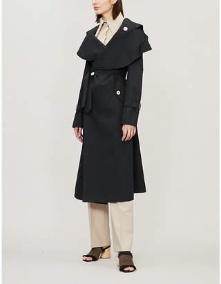 Awake Oversized-collar cotton trench coat