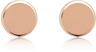 Fossil Rose Gold Tone Round Stud Earrings