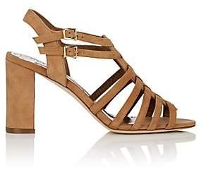 Manolo Blahnik Women's Ticcia Suede Sandals - Camel