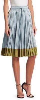 RED Valentino Metallic Midi Skirt