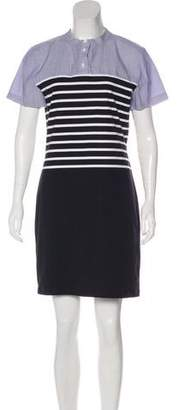 Band Of Outsiders Short Sleeve Mini Dress