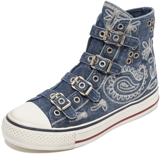 Ash Val Buckle High Top Sneakers $175 thestylecure.com