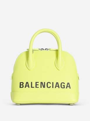 Balenciaga WOMEN'S NEON YELLOW VILLE TOP HANDLE BAG XXS