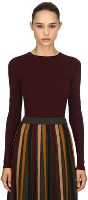 Antonio Marras Stretch Viscose Rib Knit Sweater