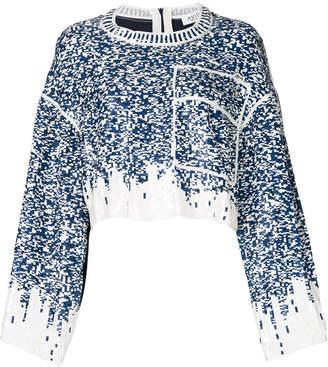 Aviu (アヴィウ) - Aviù sequin embroidered cropped top