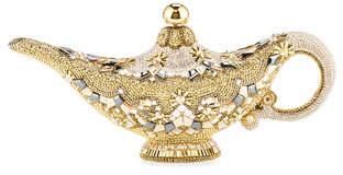 Judith Leiber Couture Genie Lamp Aladdin Minaudiere Clutch Bag