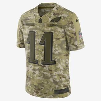 Nike NFL Philadelphia Eagles Salute to Service Limited Jersey (Carson Wentz) Men's Football Jersey