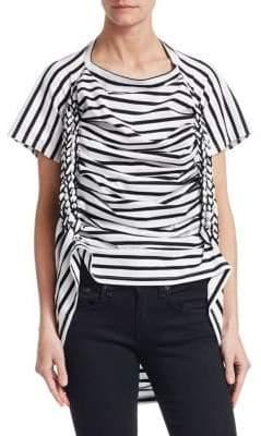 Junya Watanabe Striped Braided-Trim T-Shirt