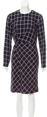 Elizabeth and James Knot-Accented Long Sleeve Dress