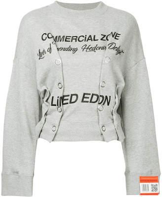 Miharayasuhiro Commercial Zone eyelet sweatshirt