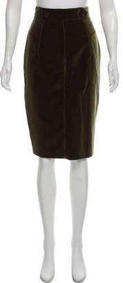 Burberry Velvet Pencil Skirt w/ Tags