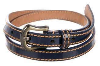 Fendi Patent Leather Buckle Belt Navy Patent Leather Buckle Belt