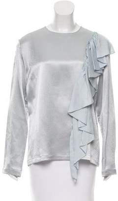 Tome Hammered Ruffled Blouse w/ Tags
