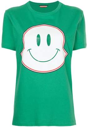 Moncler smiley face maxi logo print T-shirt