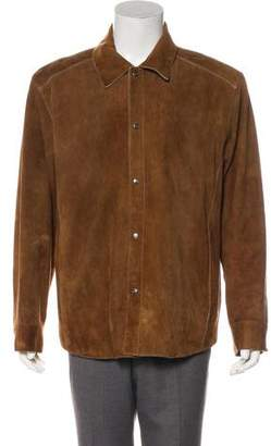 Andrew Marc Suede Button-Up Jacket