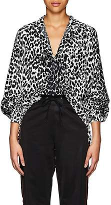 Givenchy Women's Leopard-Pattern Silk Tunic