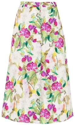 Andrea Marques printed Pate midi skirt