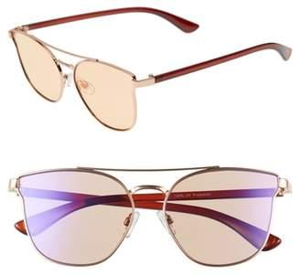 BP 56mm Flat Mirrored Aviator Sunglasses