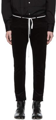 SASQUATCHfabrix. Black Corduroy Skinny Trousers